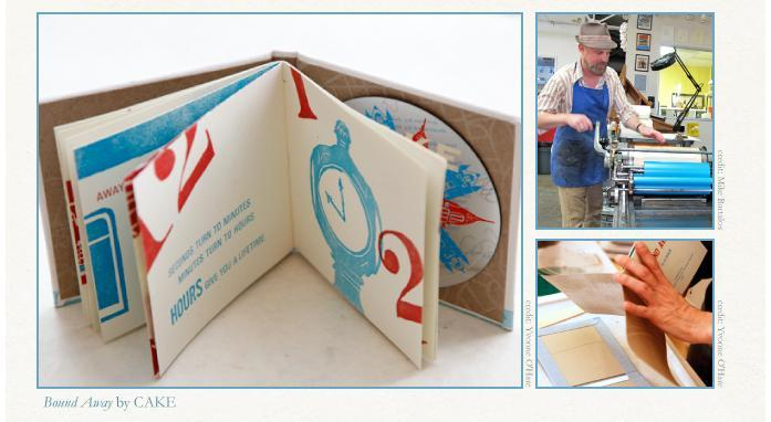 Bound away cake bandmade books